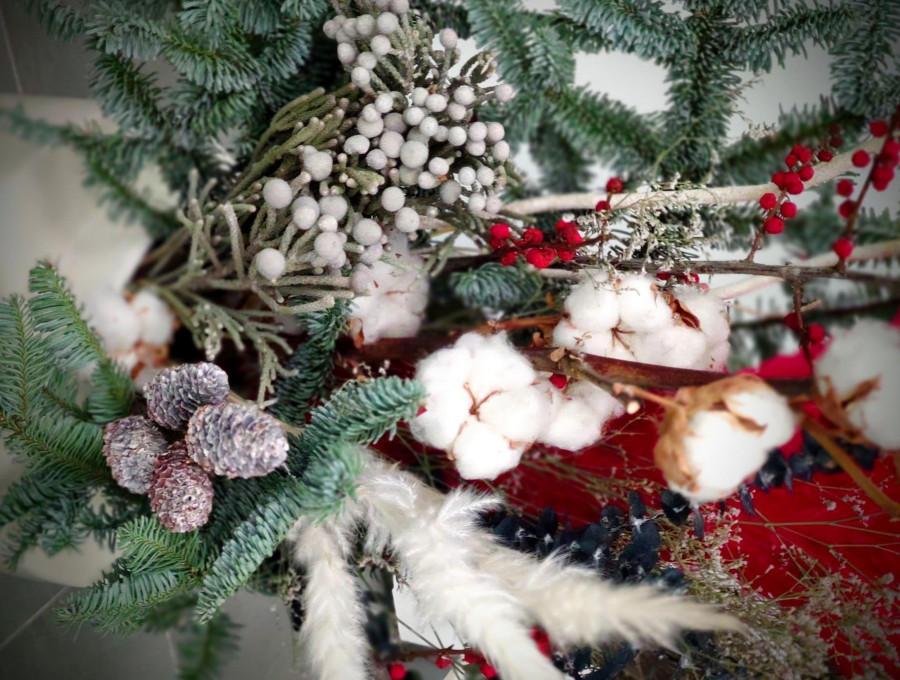"""""""Kalėdiniai akcentai""""– nuotolinė Kalėdinių puokščių paroda-konkursas"""