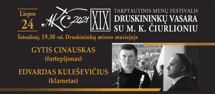 EDVARDAS KULEŠEVIČIUS ir GYTIS CINAUSKAS | Druskininkų vasara su M. K. Čiurlioniu